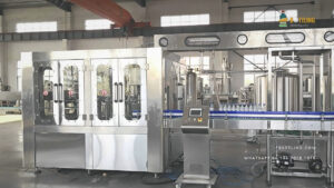 Russian Customer Order Carbonated Beverage Filling Line for Sparkling Water and Still Water.